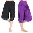 Women Harem Yoga Pants Belly Dance Comfy Loose Boho Wide Shorts For Dance