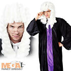 High Court Judge Robe + Wig Barrister Mens Fancy Dress Costume Adult Outfit New