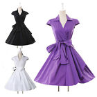 UK FREE SHIP Hepburn Style 50s Rockabilly Vintage Swing Party Prom Evening Dress