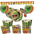 Dinosaur Boys Deluxe Birthday Party Kit Plates Cups Balloons Banner Decorations