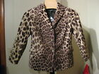 WOMANS COTTON VELVET LEOPARD CHEETAH PRINT BLAZER TALBOTS PLUS PETITE PLUS $209