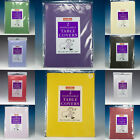 10  DISPOSABLE SQUARE PAPER TABLECOVERS TABLECLOTHS CHOOSE COLOURS (5packs of2)