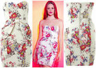 ♥ LIPSY ♥ MULTI FLORAL DR05906 BOW BANDEAU PENCIL EVENING COCKTAIL DRESS SZ 8-16