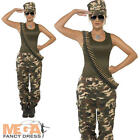 Khaki Camo Army Military Fancy Dress Ladies Trouser Uniform Womens Adult Costume