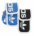 adidas Originals Linear Neck Pouch Mobile Phone IPod Camera Bag Black & Blue