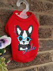 Small Pet Dog clothes Chihuahua coat red dog jumper outfit  Size - L Teddy Face