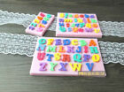 NEW PINK 3D English letters & numbers fondant cake molds for Halloween 3 types