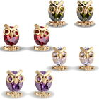 1 New 18k Gold Plated 0.7mm owl Stud Earrings with 14.4x8.7mm M3061