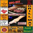 BBQ RIGID GRILLING MAT NonStick TEFLON BBQ GRILL LINER 0.25mm Reusable BBQ SHEET