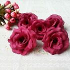 50 X Artificial rose Silk Flower Craft Heads for party Home Wedding decoration #