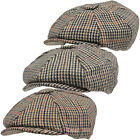Messenger Newsboy Baker Boy Hat Classic Country Tweed Mens Flat Cap Baggy