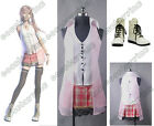Final Fantasy XIII FF 13 Serah Farron Cosplay Costume/Outfit/Suit+Shoes/Boots