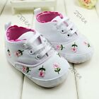 New Design Embroidered Lace Baby Kids Boys Girls Shoes Soft Bottom Baby Shoes