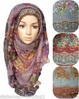 ♡ OMBRE FLORAL HIJAB ♡ Plain Big Large Maxi Scarf Wrap Oversized Shawl Wrap Neck