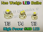 8 x Neo Wedge SMD SMT LED Bulbs T3 T4 T5 White Blue Red Green Amber HVAC AC