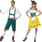 Unisex Couples ATW Fancy Dress - Womens Mens Oktoberfest Dress + Lederhosen