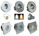 1 - 10er Set Bad Einbaurahmen 230V High Power Led GU10 5W = 50W Dimmbar