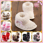 Pure Baby Boy Girl Infant Toddler Winter Fur Shoes Snow Boots Warm to 18 MTHS S