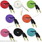 Внешний вид - 3.5mm Flat Male to Male Stereo Audio Auxiliary AUX Cable for PC iPod Car b232