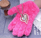 30+ Styles Titanic Heart Cross Crystal Necklace Pendant Chain For Women Girls