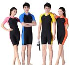 Men Women Floatsuit Diving Skin Short Sleeve Shorty Snorkeling Wetsuit Swimwear