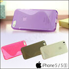 S-Line Wave Grip Ultra Thin Silicone Gel Case Cover Apple iPhone SE 5S 5 Colours