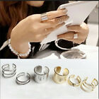 New Fashion Gold Rings Set 3PCS Cut Above Knuckle Rings Band Rings Set