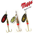 Mepps Black Fury Fishing spinners. COPPER GOLD BLACK SILVER. Different Dot color