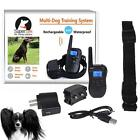 Bluescreen Waterproof Remote Shock Rechargeable LCD Pet Dog Training Collar FHRG
