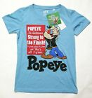 UNIQLO WOMEN POPEYE CREW NECK SHORT SLEEVE T-SHIRT BLUE (133070)