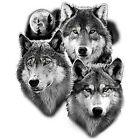 Moon & Three Wolves T-Shirt & Tank Tops All Sizes & Colors