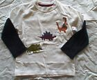 NWT GYMBOREE DINOSAUR ACADEMY IVORY DOUBLE SLEEVE DINO TOP SHIRT