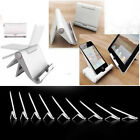 Computer Tablet / Phone Stand Multi Angle Angled Folding Holder Dock White Black