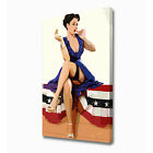LARGE HOT RETRO BABE CANVAS PRINT EZ0956