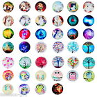 10PCs Glass Dome Cabochons Embellishment Round Mixed 25mm