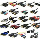 1.3 1.4 HDMI S-VGA DVI-D Scart RCA Male to Female Audio Cable 1M 3M 5M 10M