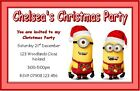 PERSONALISED DESPICABLE ME MINIONS CHRISTMAS PARTY INVITATIONS