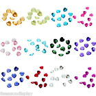 50PCs Floating Charms Fit Living Locket Heart Birthstone 5mm