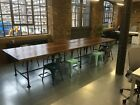 Extra Large Boardroom/ Dining Table with Vintage Industrial Gas Pipe Frame