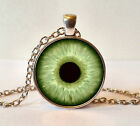 Antique Silver Finish Glass Eyeball Eye Pendant Necklace + Box - Many Designs