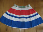 BODEN JOHNNIE B STRIPED MINI SKIRT RED WHITE BLUE 26 R