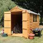 8x6 GARDEN SHED DOUBLE DOOR APEX WOODEN SHEDS OVERLAP CLAD 8ft x 6ft New Un Used
