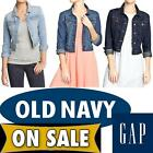 WOMENS LADIES GAP OLD NAVY DENIM WESTERN CROPPED JEAN JACKET= XS S M L XL XXL
