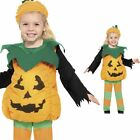 Toddler Pumpkin Costume PLUS Hat - Childrens Kids Halloween Fancy Dress Outfit