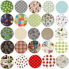 Wipe Clean Tablecloth Oilcloth Vinyl PVC - 140cm ROUND Circle