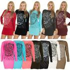 New Ladies Womens Knitted Tiger Face Animal Print Jumper Dress Size 8 10 12 14