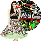 Hell Bunny B-Movie 50's Dress Rockabilly Pin Up Retro Halloween Gothic Horror