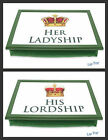 HIS LORDSHIP, HER LADYSHIP or HEAD GARDENER LAP TRAY - PADDED BEAN BAG CUSHION