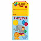 Circus Party Birthday Boys Girls Invites x 8, 16, 24, 32, 40  FAST FREE POSTAGE!
