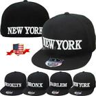 New York Harlem Bronx Brooklyn Embroidered Fitted Hat Cap Borough NYC NEWYORK